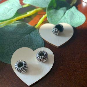 3 decorative pandora charms